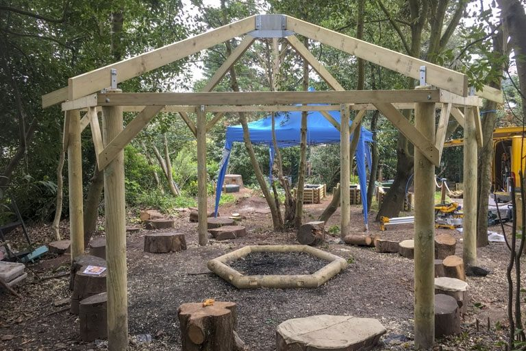 CCC Carpentry Torquay Hexagonal Timber Gazebo