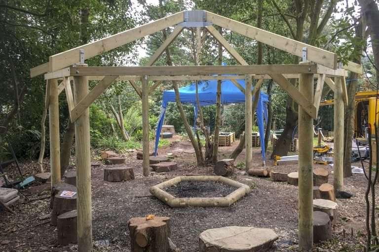 CCC Carpentry Torquay Hexagonal Timber Gazebo